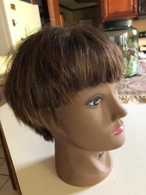 ecefac7d00496 MANNEQUIN HEAD AFRICAN American with 100% Human Hair Cosmetology ...