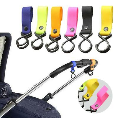 Universal Mummy Pram Hanger Baby Stroller Paste Strap Clip Pushchair Bottle Hook