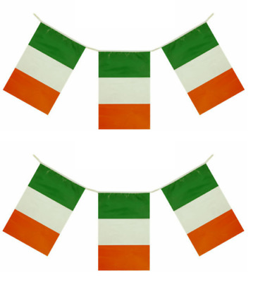 12ft St Patricks Day Flag Bunting Ireland Irish Party Decoration Rugby