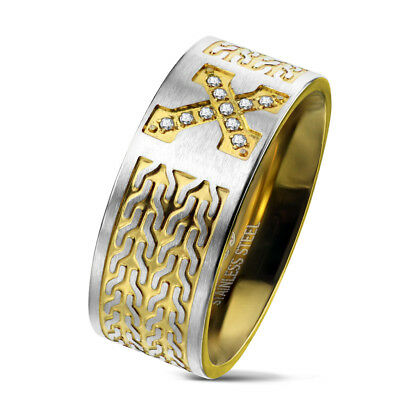 Tapsi ´S S Coolbodyart Finger Ring Statementring Stainless Steel 316l Gold