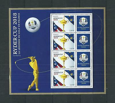 France Luxe  Bloc  Feuillet  N° 2  Ryder  Cup  2018  Neuf  **