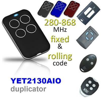Universal Multi-Frequency Automatic Cloning Garage Gate Door Remote Control Fob