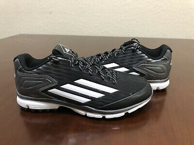 e581c6d3e659 NEW Adidas Men s Size 9 PowerAlley 3 Turf Baseball Trainer Shoes Black  Q16554