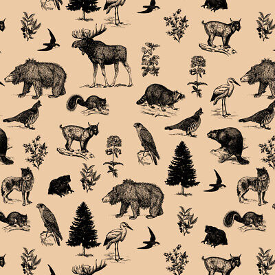 Premium Gift Wrap Wrapping Paper Roll Pattern Animals Going On Safari