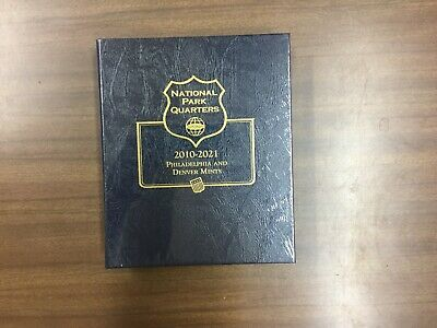 Whitman Classic Coin Album # 3057 For National Park Quarters From 2010-2021, P&D