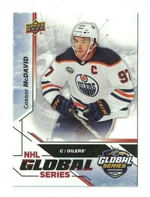 Connor McDavid 2019 Upper Deck National Hockey Card Day NHL GLOBAL SERIES OILERS