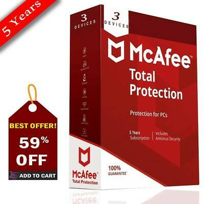 McAfee® Total Protection🌠 2019 3 PC Windows 5 years Antivirus🌠 E-mail delivery