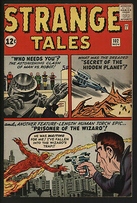 Strange Tales 102. First Appearance Of The Wizard. Great Pages.