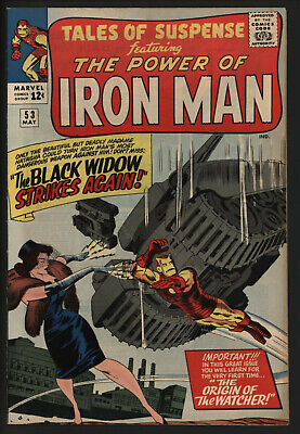 Tales Of Suspense 53, Tight Structure. Off White Pages.