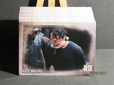 2016 The Walking Dead Season 5 100 Card Set with Box and Wrapper