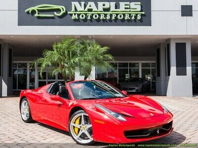 2014 Ferrari 458 Spider 2014 Ferrari 458 Spider F1, Great Carbon Fiber Options, Very Low Miles