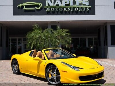2014 Ferrari 458 Spider 2014 Ferrari 458 Spider F1, Navigation, Yellow Calipers, Beige Leather