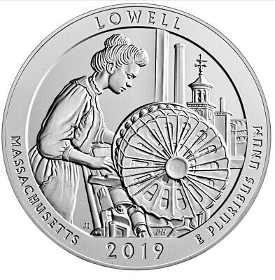 NEW 2019-S  PROOF QUARTER Lowell National Historical Park in Massachusetts