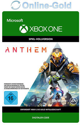 Anthem Key - Xbox One Edition - Spiel Digital Code RPG - DE/EU