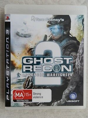 PS3 - Tom Clancys Ghost Recon Advanced Warfighter 2 - Good Condition With Manual