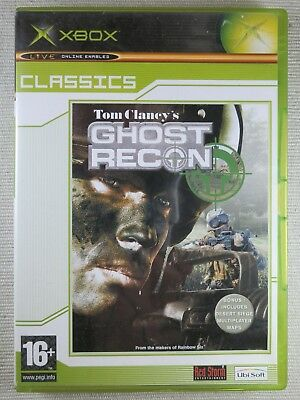 Xbox Original - Tom Clancys Ghost Recon - Good Condition Including Manual