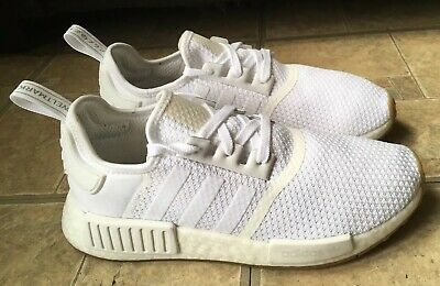 67b9f2cd1 Adidas Nmd R1 Boost Cloud White Gum Bottom Running Shoes D96635 Men Size 8