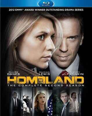 Homeland: The Complete Second Season (Blu-ray Disc, 2013, 3-Disc Set) Brand New!