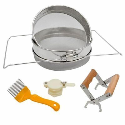 Honey Strainer Double Sieve Stainless Steel Honey Harvesting Starter Kit | M3M3