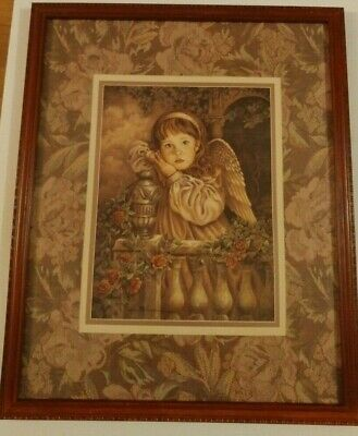 Home Interiors Angel Unaware Picture Donna Richardson Vintage 21 5 X 17