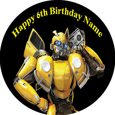 Transformers Real Edible Icing  Cake Topper Party Image Frosting Sheet