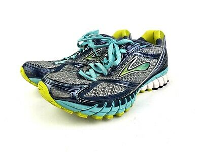e380aecb5c9 Brooks Womens Ghost 6 Running Shoes Size 8 M Blue Gray Yellow Athletic  Training