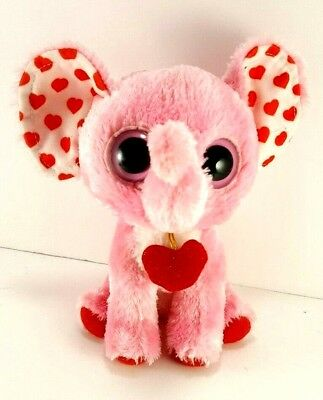 61993561abc Ty Beanie Boos SUGAR Pink ELEPHANT Tender Hearts Plush 6