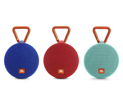 JBL Clip 2 Waterproof Portable Bluetooth Wireless Speaker - Blue/Red/Teal