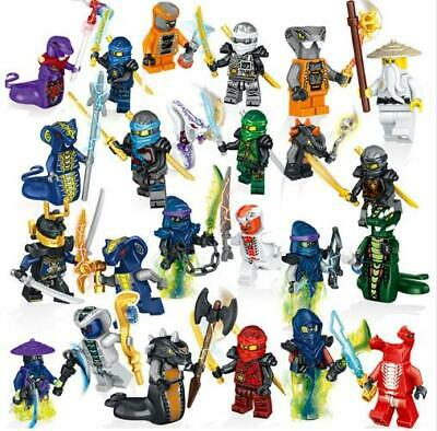 Ninjago Heroes Kai Jay Cole Zane Lloyd With Weapons Action Mini Figure Blocks