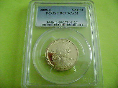 2008-S Sacagawea Pcgs Pr69Dcam Dollar Proof Coin