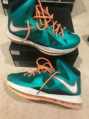 best website 09d3a 84bf1 Brand New Nike Lebron X Miami Dolphins RARE Air OVO Supreme Off White  Flawier