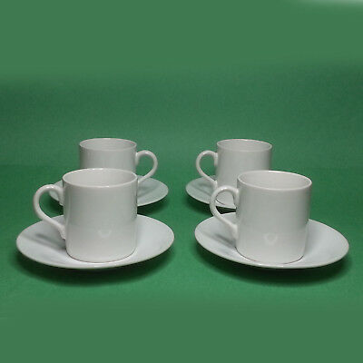 Espresso Coffee Cup with Saucer Fine Bone China, Set of 4