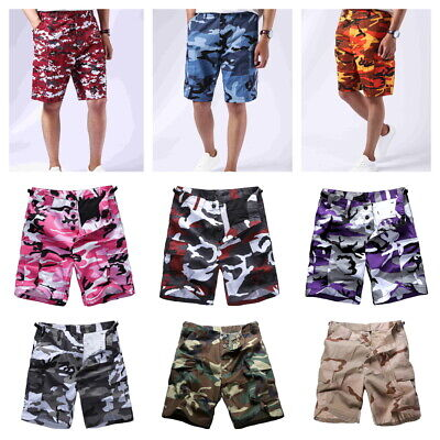 Mens Boys Army Military BDU Shorts Outdoor Hunt Camp Casual Camo Cargo Shorts