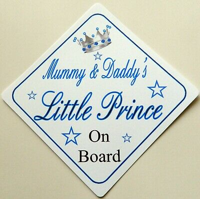 Hearty Handmade Grandads Little Prince Baby On Board Car Sign Special Buy Other Baby Safety & Health Baby