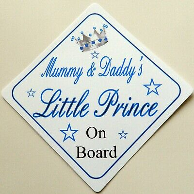 Hearty Handmade Grandads Little Prince Baby On Board Car Sign Special Buy Baby Safety & Health