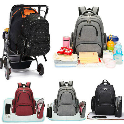 Large Multifunctional Baby Diaper Nappy Backpack Waterproof Mummy Changing Bag