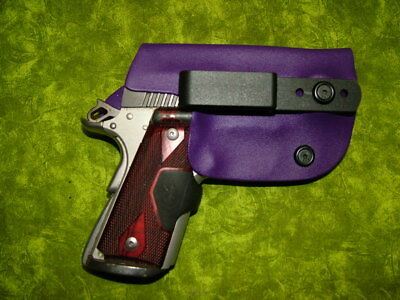 Look!!! Super Nice Left Iwb Purple Kydex Holster Hand Made Fitted