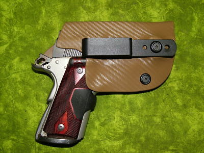 Look!!! Super Nice Left Iwb Coyote Carbon Kydex Holster Hand Made Fitted