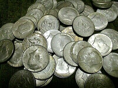 1 1964 Or 1964(D)  90% Silver John F. Kennedy Half Dollar! These Are Nice Coins!