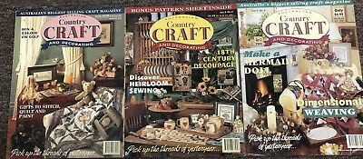 3 x Country Craft & Decorating Magazines