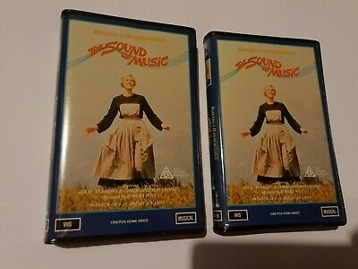 The Sound of Music x 2.. 1987 VHS CBS FOX. 1 Owner from New..Vg - Like New..