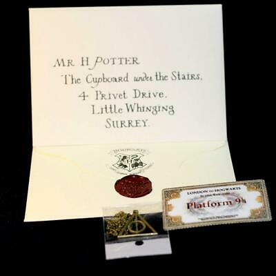 Harry Potter School Acceptance Letter London To Hogwarts Tickets Cosplay Tool
