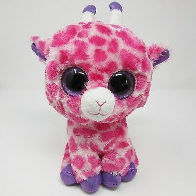 Ty Beanie Boo medium Twigs the pink purple giraffe soft toy plush 2014 10