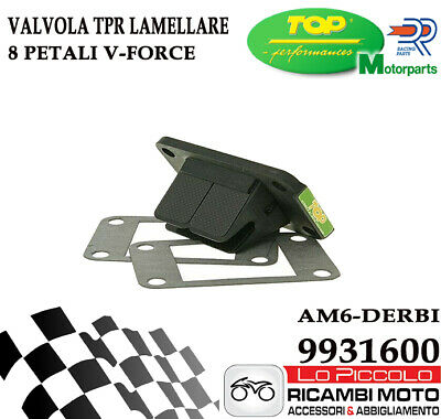 Pacco Lamellare Top 8 Petali V-Force Black Motore Am6 - Derbi / 9931600