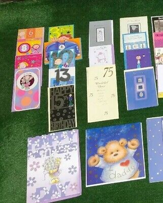 50 Greeting Cards Bundle Birthday Children Anniversary Wedding Age Mothers Day