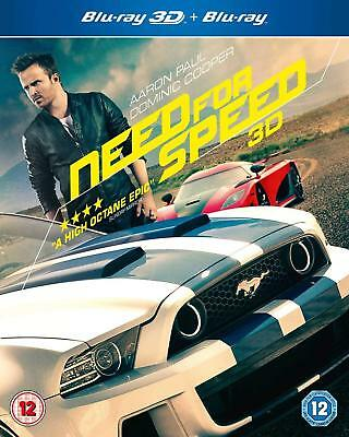 Need for Speed (3D + 2D Blu-ray, 2 Discs, REGION B - PLEASE READ) *NEW/SEALED*