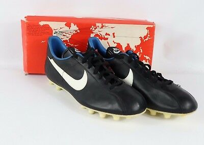 1fcad1d8ff911 VINTAGE 80S NEW Nike Mens 10 Euro Match Leather Soccer Shoes Cleats ...
