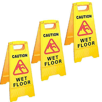 Professional Caution Wet Floor Sign - Full Size 600 x 300mm A Frame Multi Pack