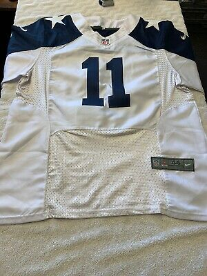 9e22fb49b35 COLE BEASLEY #11 Dallas Cowboys On-Field Adult Jersey White Size 44 ...