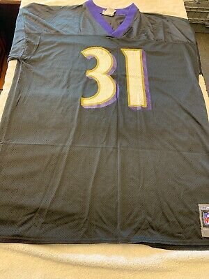 312985a76ff Jamal Lewis #31 Baltimore Ravens Jersey 2XL XXL Mens Black Purple Reebok  Shirt